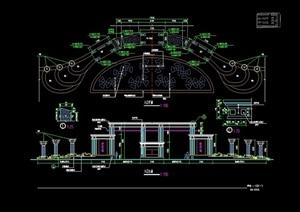 欧式入口门廊素材设计cad施工图