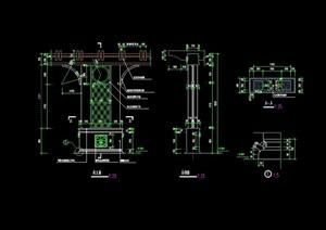 园林景观详细完整廊架素材cad施工图