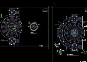 园林景观详细的广场设计cad方案