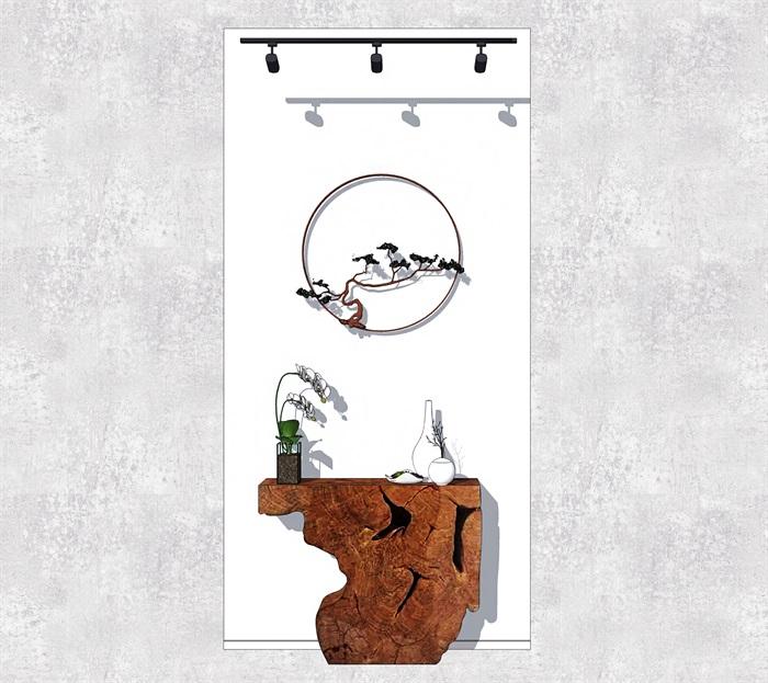 新中式玄关装饰墙(3)