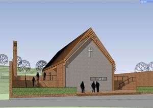 木构砖石乡土建筑构造小型教堂会所