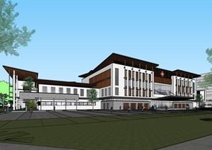 现代新中式高端养生康复医院综合养老公寓住宅设施规划