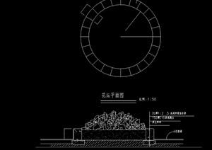 圆形花坛cad施工图
