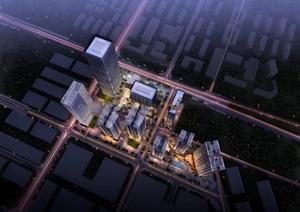 某城市综合体SU(草图大师)精细霸气模型帅酷气