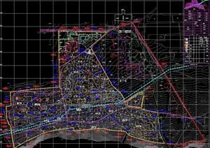 综合服务区住宅景观控制性详细规划cad方案