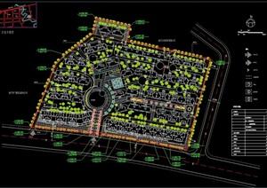 现代住宅小区规划详细cad总平面图