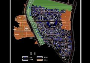 某详细新民小区规划cad方案图