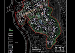 某住宅花园规划cad方案总平面图