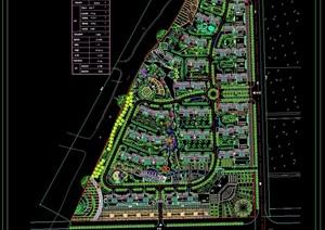 住宅详细中新花园规划设计cad方案