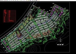 某详细山庄住宅小区规划cad总图