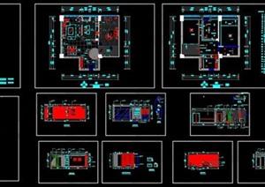 一室一厅室内装饰施工图-100平