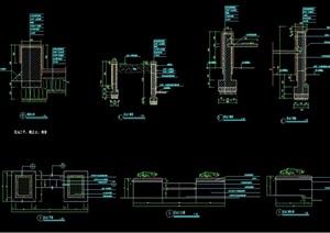 现代详细的花池cad施工图