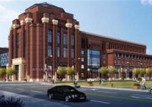 创意红砖表皮经典高端欧式风大学校园规划科技创新科研基地创业园产业基地总部