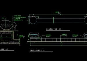 花钵坐凳组合设计cad施工图