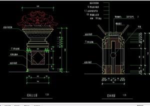 详细的花钵设计cad立剖面