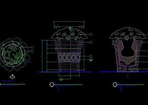 特色花钵详细设计cad施工图