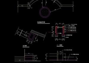 现代花坛花池详细cad施工图