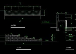 花坛完整详细设计cad施工图