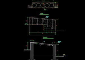 现代花坛详细素材设计cad施工图