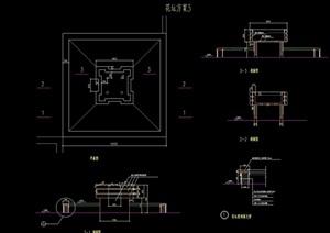 现代花坛详细完整设计cad施工图