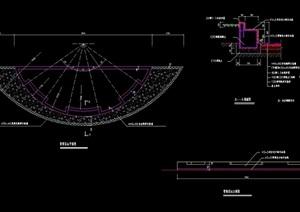 现代花坛及坐凳设计cad施工图