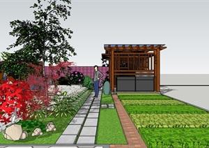 某现代中式别墅庭院景观设计