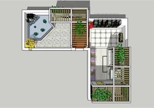 某屋顶花园现代景观设计