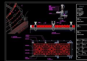 标准护栏设计cad施工图