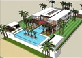 详细的两层详细的私人别墅设计su模型
