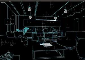 经理办公室详细空间设计3d模型
