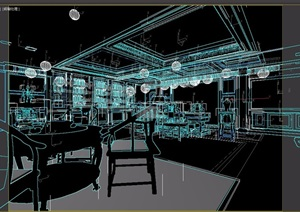 董事长办公室空间3d模型