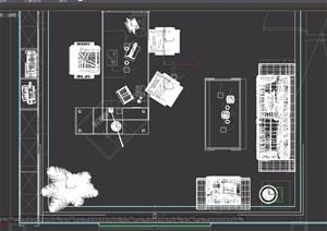 详细的总经理办公室设计3d模型