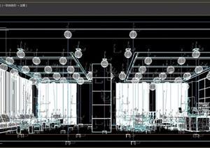 详细的整体办公空间3d模型