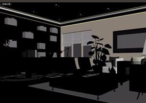 详细完整的整体办公室3d模型