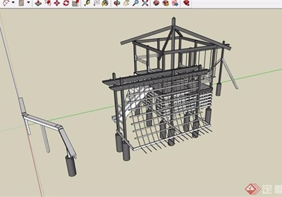 园林景观儿童游乐设施素材设计su模型