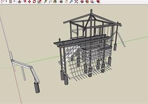 园林景观儿童游乐设施素材设计SU(草图大师)模型