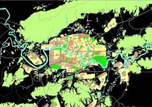 某城市整体规划cad总体