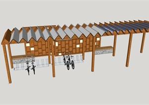 乡村创意自行车驿站--微建筑