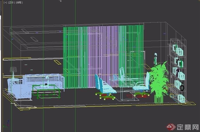 经理详细的办公室设计3d模型