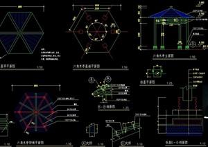 经典详细完整的木质亭子cad施工图