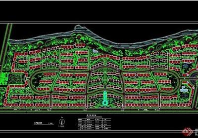 住宅完整小区设计cad规划图