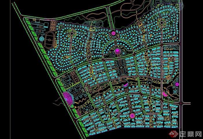 花园小区规划设计cad方案图