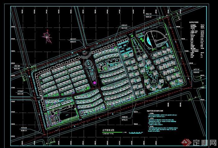 某详细完整的住宅小区规划设计cad方案