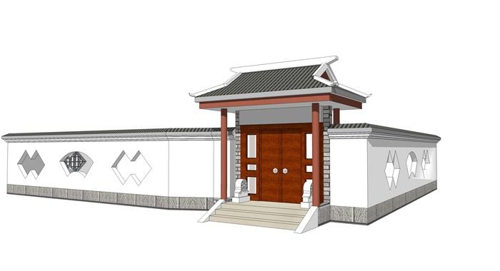 中式院门古典大门头(2)