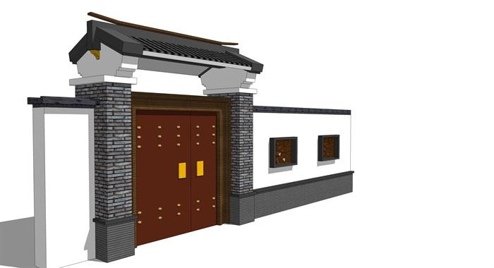 中式院门(3)