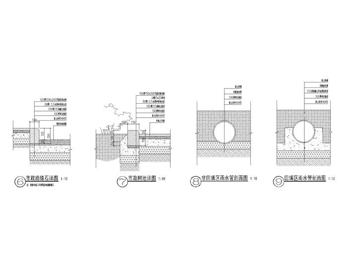 景施-T-11 市政人行道 树池 排水管包管详图_t3(2)