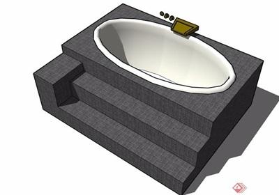 浴缸设计su模型