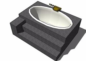 浴缸设计SU(草图大师)模型
