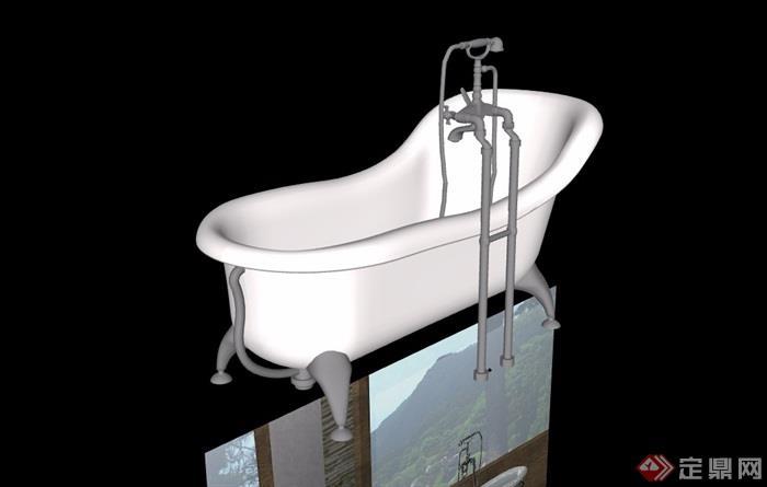某欧式浴缸素材设计su模型