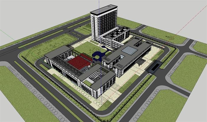 现代新中式高端医院疗养院养老院规划设计(2)